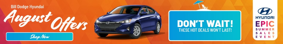 Bill Dodge Hyundai August Offers