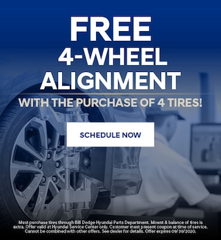 Free 4-Wheel Alignment with the purchase of 4 tires! - July