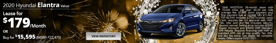2020 Hyundai Elantra Value - Jan