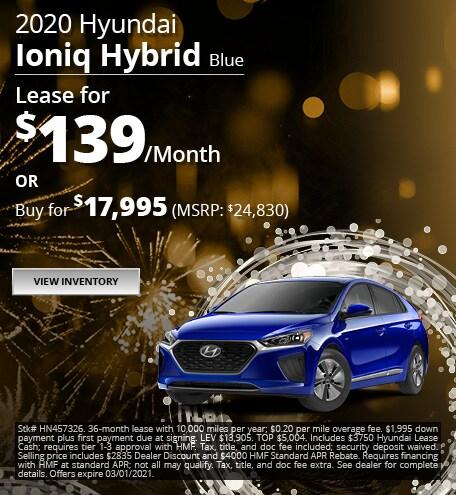 2020 Hyundai Ioniq Hybrid Blue - Jan