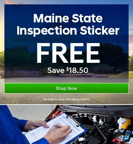 FREE Maine State Inspection Sticker