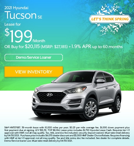2021 Hyundai Tucson SE - April