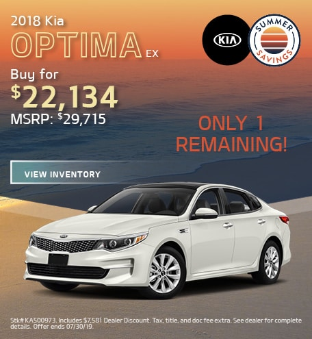 2018 Kia Optima EX - July '19 Offer