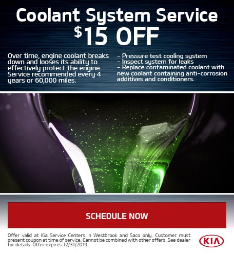 $15 Off Coolant System Service