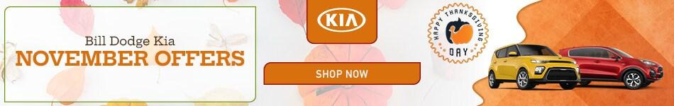 Bill Dodge Kia November Offers