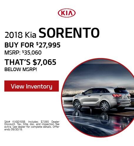 2018 Kia Sorento - Sept '19