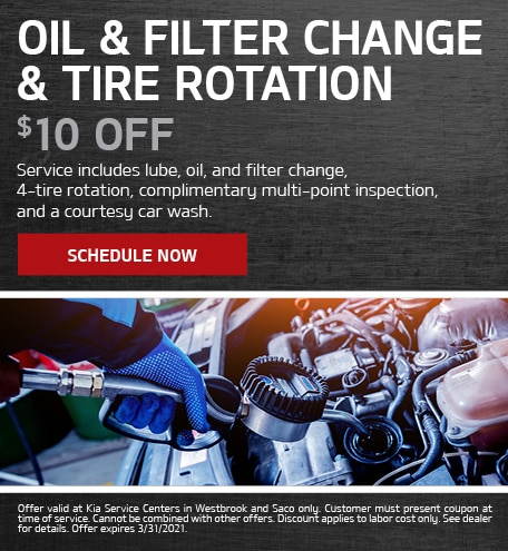 Oil & Filter Change & Tire Rotation