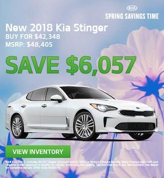 New 2018 Kia Stinger