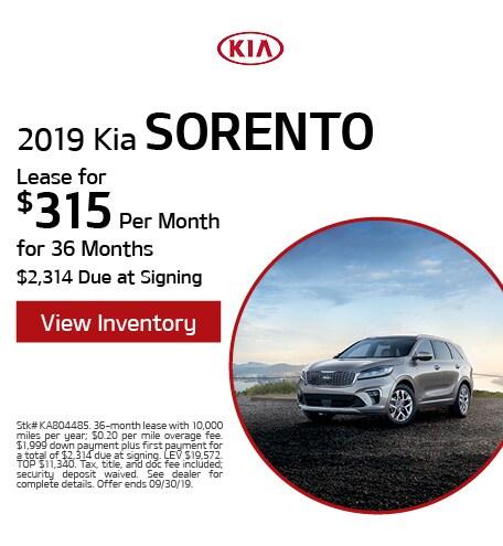 New 2019 Kia Sorento - Sept '19