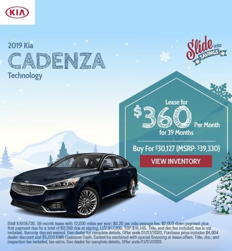 2019 Kia Cadenza Technology - Jan