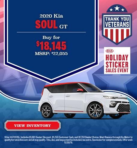 New 2020 Kia Soul Offer - November