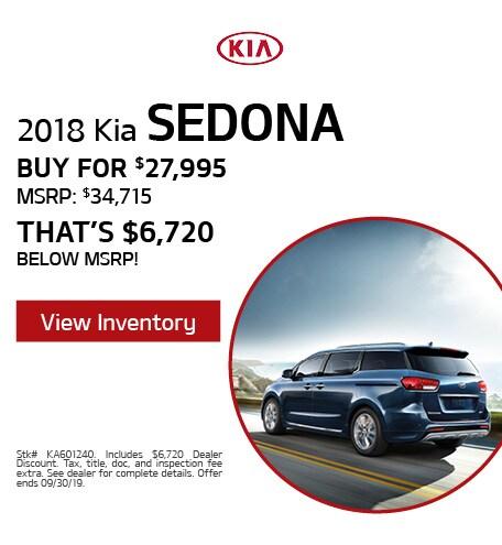 2018 Kia Sedona - Sept '19