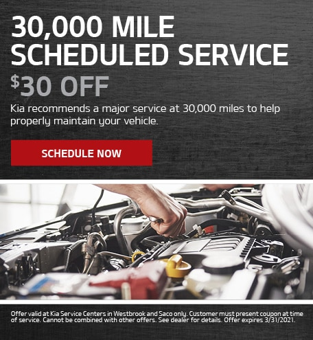 30,000 Mile Scheduled Service