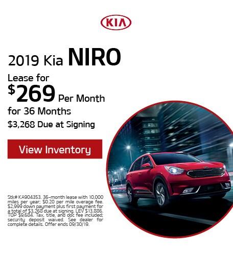 New 2019 Kia Niro - Sept '19