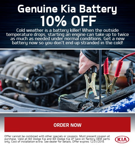 10% Off Genuine Kia Battery