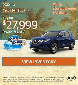 New 2020 Kia Sorento LX - June