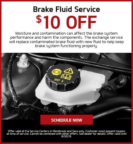 Break Fluid Service - $10 Off
