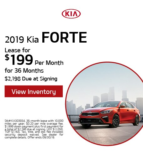 New 2019 Kia Forte - Sept '19
