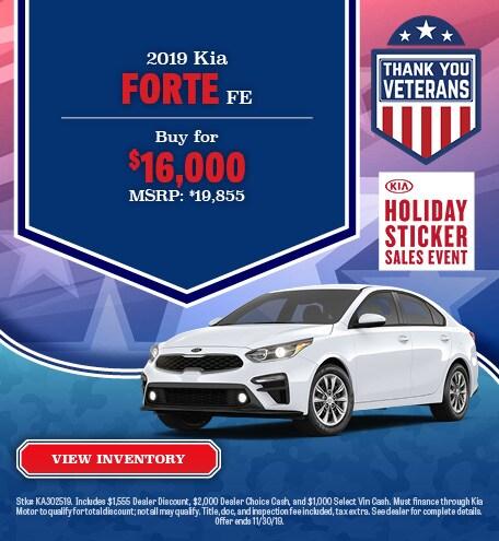 New 2019 Kia Forte Offer - November