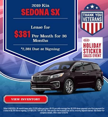 New 2019 Kia Sedona Lease - November