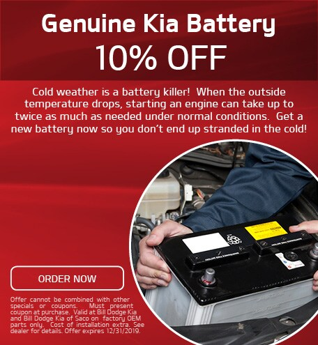 10% Off Genuine Kia Battery