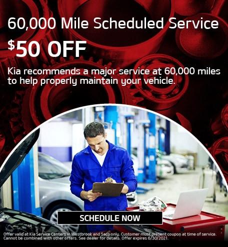 60,000 Mile Scheduled Service