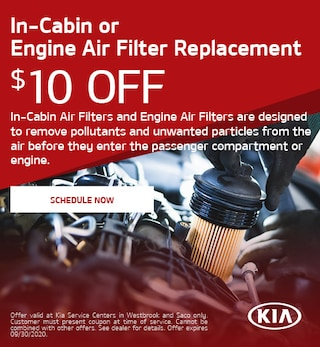 In-Cabin or Engine Air Filter Replacement - July