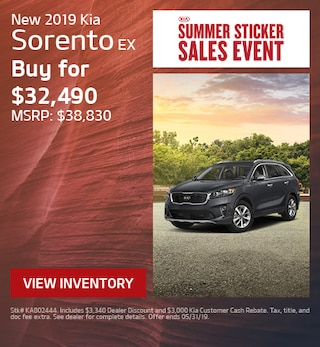 2019 Kia Sorento EX - Offer