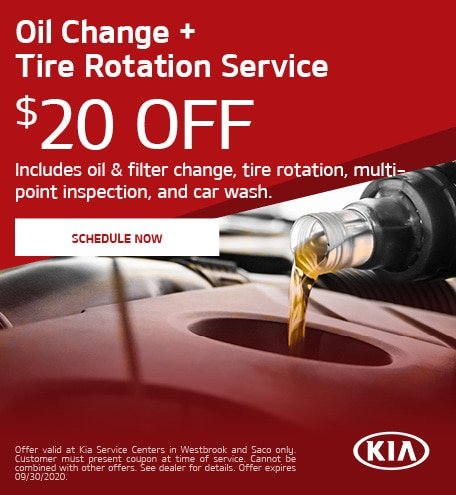 Oil Change + Tire Rotation Service - July