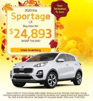 2020 Kia Sportage BUY NOW - November