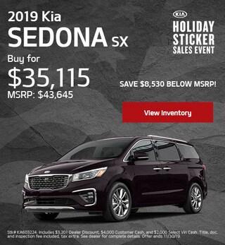 New 2019 Kia Sedona Offer - November