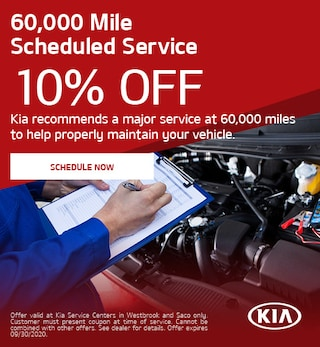 60,000 Mile Scheduled Service - July