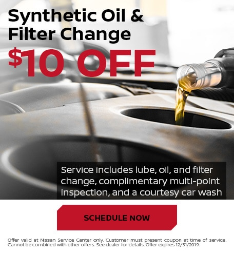 $10 Off Synthetic Oil & Filter Change