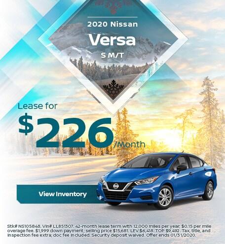 2020 Nissan Versa S M/T - Jan