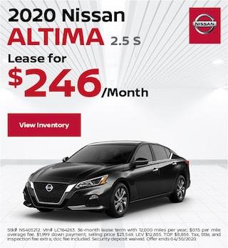 2020 Nissan Altima 2.5 S - April