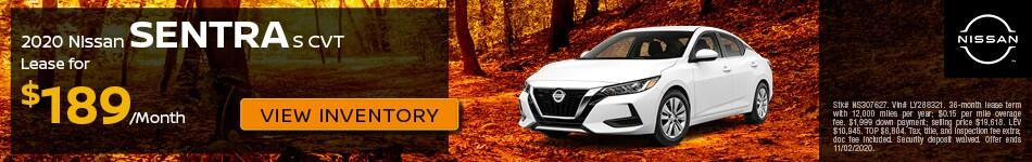2020 Nissan Sentra S CVT - Oct