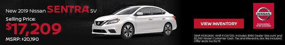 2019 Nissan Sentra SV - Purchase