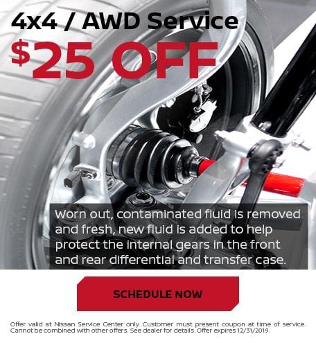$25 Off 4x4 / AWD Service