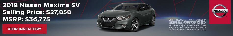 2019 Nissan Maxima SV - Purchase