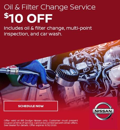 Oil & Filter Change Service - July