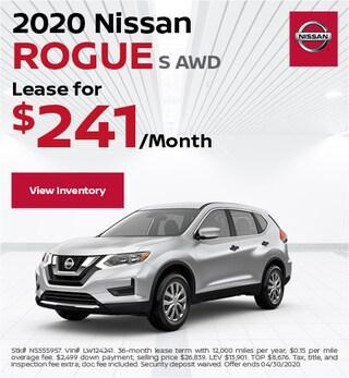 2020 Nissan Rogue S AWD - April