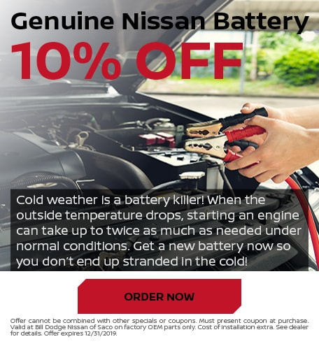10% Off Genuine Nissan Battery