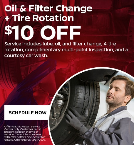 Oil & Filter Change  +  Tire Rotation
