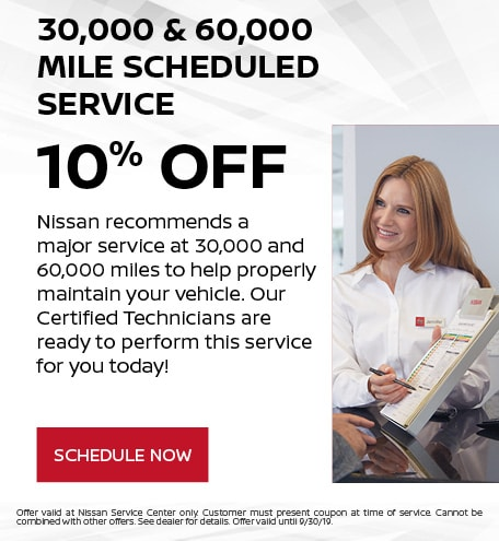 30,000 & 60,000 Mile Scheduled Service - 10% OFF