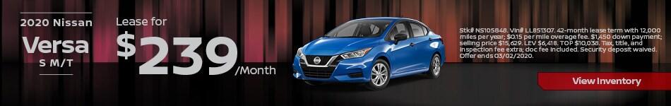 2020 Nissan Versa S M/T - Feb