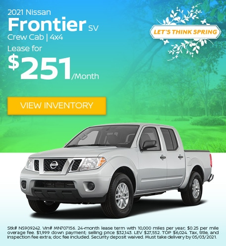 2021 Nissan Frontier SV Crew Cab   4x4 - April