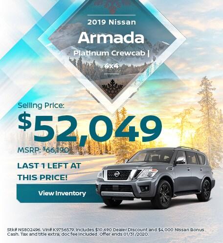 2019 Nissan Armada Platinum Crewcab | 4x4 - Jan
