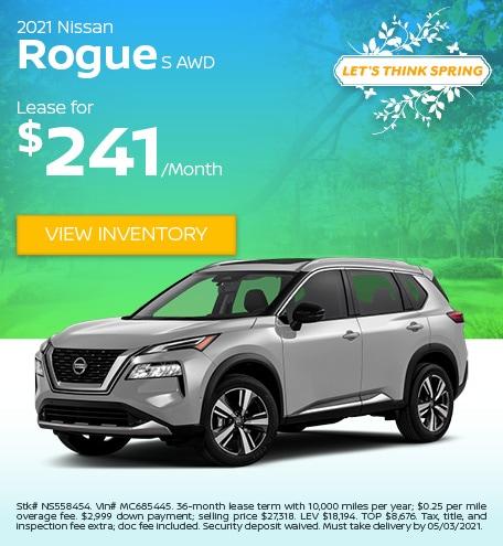 2021 Nissan Rogue S AWD - April