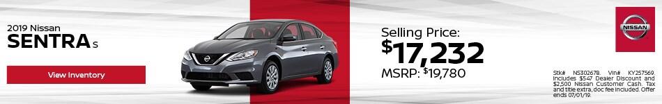 2019 Nissan Sentra - Discount