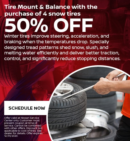 Tire Mount & Balance with the purchase of 4 snow tires